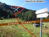 Via Normale Pizzo Campaggio - Immagine ripresa 50 m ad E dell'Alpe della Casera