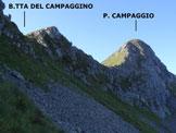 Via Normale Pizzo Campaggio - In salita, verso la Bocchetta del Capaggino, sulla cresta NE