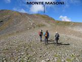 Via Normale Monte Masoni - Versante NE - Il vastissimo pendio sommitale
