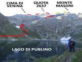 Via Normale Cima di Venina - Versante NW - L�itinerario, dal Lago di Publino
