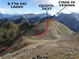 Via Normale Cima di Venina - Versante NW - La parte finale dell'itinerario, dal Monte Masoni