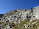 Via Normale Cima di Venina - Cresta NE - All'inizio della cresta NE