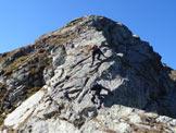 Via Normale Cima di Venina - Cresta NE - Sulle placche rocciose del filo di cresta (PD)