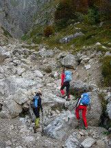 Via Normale Grigna Meridionale - Cresta Sinigaglia - Parte iniziale nel Canalone Porta