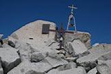 Via Normale Monte Adamello - La croce sulla cima