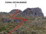 Via Normale Cima Vitalengo - In salita, lungo il versante ovest