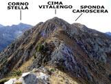 Via Normale Cima Vitalengo - vers. NW - Lungo la cresta di collegamento tra l´Anticima N e la vetta
