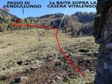 Via Normale Cima Campello - Immagine ripresa dalla Casera Vitalengo
