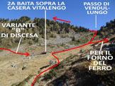Via Normale Pizzolungo (o Pizzo Lungo) - L'itinerario di salita alla Cima Campello e al Pizzolungo e la variante B di discesa dal Pizzo