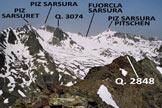 Via Normale Piz d'Urezza - Panorama di vetta, verso W