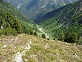 Via Normale Piz Murterchombel - In discesa, nella Val Sarsura