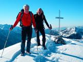 Via Normale Pizzo del Vescovo (invernale) - Con i compagni in vetta