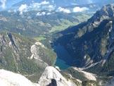 Via Normale Croda del Becco - Il lago di Braies dalla cima