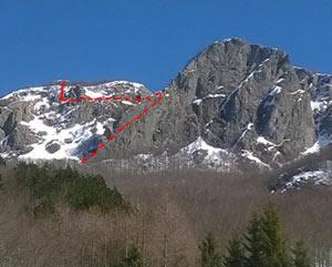 Via Normale Monte Maggiorasca - Canale Marticano