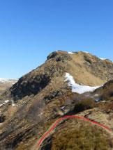 Via Normale Monte Magno - Il bivio dopo l´Alpe di Mageno