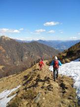 Via Normale Monte Magno - Il sentiero di discesa che passa dai tre alpeggi