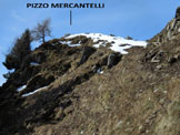 Via Normale Pizzo Mercantelli - La parte finale dell'ascesa dalla cresta NE