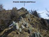 Via Normale Pizzo Mercantelli - Cresta SW - La parte finale della cresta SW