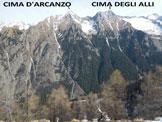 Via Normale Pizzo Mercantelli - Cresta SW - Panorama di vetta, verso N