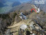 Via Normale Pizzo Mercantelli - Cresta SW - La cresta SW, dalla vetta
