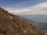 Via Normale Monte Grione - Salita verso la Croce