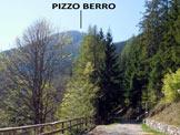 Via Normale Pizzo Berro - Il Pizzo Berro, dal piazzale del Rif. Ronchi