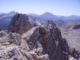 Via Normale Punta di Mezzo di Fanes - Panorama di vetta verso S