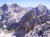 Via Normale Punta di Mezzo di Fanes - Le Tofane viste dalla cima