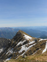 Via Normale Monte Massone - L�Eyehorn visto dal Massone