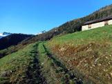 Via Normale Pizzo Dosso Cavallo - In salita, a destra Il Baitone