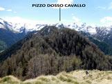 Via Normale Pizzo Berro – Pizzo Dosso Cavallo - Immagine ripresa dalla vetta del Pizzo Berro