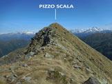 Via Normale Pizzo Scala - La facile cresta sommitale