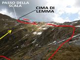 Via Normale Cima di Lemma - da W - L'itinerario, dall'Alpe Lemma Alta (q. 1973 m)