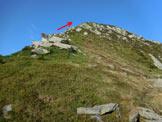 Via Normale Cima Sasso Chiaro - La facile cresta N della Cima Sasso Chiaro