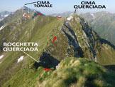 Via Normale Cima Sasso Chiaro - Cima Querciada - In discesa, lungo la ripida! cresta S della Cima Sasso Chiaro