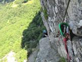 Via Normale Pietra di Bismantova - Fer. degli Alpini - Tratto della ferrata