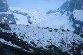 Via Normale Cima della Bondasca - Via di salita con la cima