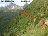 Via Normale Pizzo di Presio - In discesa, sull'impervio sentiero che traversa il versante E del P. di Presio