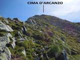 Via Normale Cima d'Arcanzo - La facile parte finale della cresta SW