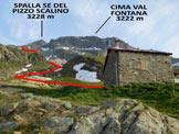 Via Normale Pizzo Scalino - dalla Val Fontana - L'itinerario, dal Rifugio Cederna-Maffina