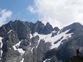 Via Normale Pizzo Brunone - Veduta sullo Scais-Torrione Curo e Fetta di Polenta