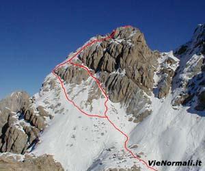 Via Normale Punta del Ciadin (cima N)