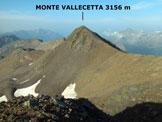 Via Normale Monte Vallecetta - Immagine ripresa dal M. Vallecetta (q. 3148 m)
