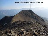 Via Normale Monte Vallecetta - Immagine ripresa dal M. Vallecetta (q. 3156 m)