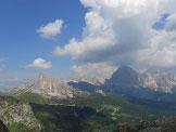 Via Normale Monte Mondeval / Corvo Alto - Panorama dalla Forcella Giau
