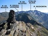 Via Normale Pizzo del Salto - Panorama di vetta, verso E