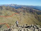 Via Normale Cima di Terento (Eidechspitze) - Il sentiero di salita visto dalle vicinanze della cima