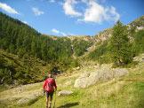 Via Normale Taneda - Il vallone da risalire per raggiungere il Piatto della Froda