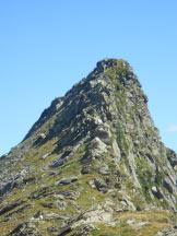Via Normale Taneda - Il Taneda con in primo piano la cresta percorsa