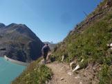 Via Normale Punta dei Camosci (Battelmatthorn) - Tratto per tornare a 2 tornanti sotto il Passo della Novena (pala eolica)